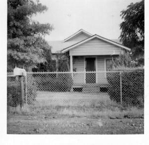 Emmitt C. McDonald built this house himself when there was not another house to be seen.