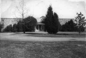Front view of the Shelter, about 1956