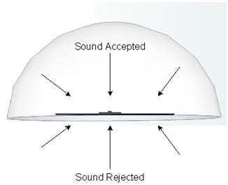 PZM 180 degree pickup pattern. Perfect for virtual presence recording.