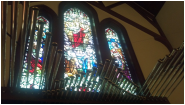 """Antiphonal organ on church rear wall.  This sound should come from behind the listener just as in the real world.  If it doesn't,  it may sound great but cannot be called """"high fidelity."""""""