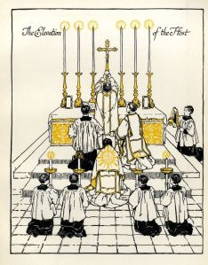 Anglican High Mass:  The Elevation of the Host